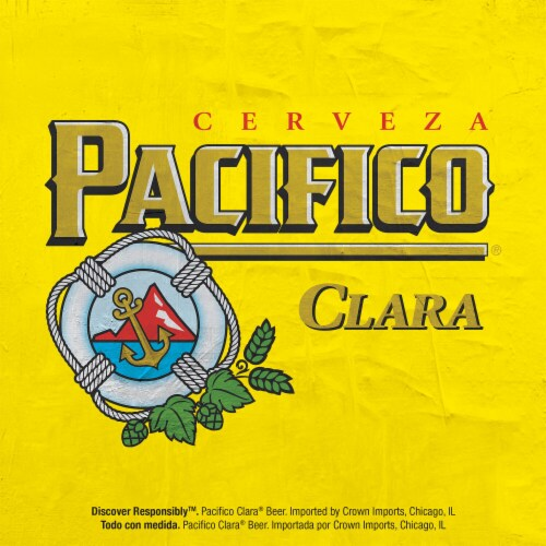 Pacifico Clara Mexican Lager Beer Perspective: top