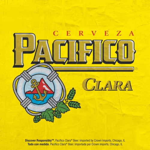 Pacifico Clara® Mexican Lager Beer Perspective: top