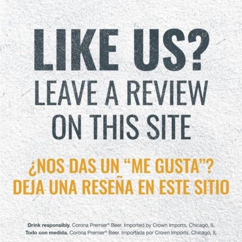 Corona Premier Lager Beer Perspective: top