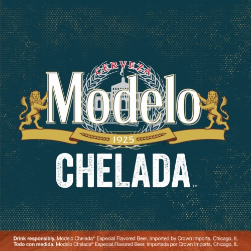 Modelo Chelada Limon y Sal Mexican Import Beer Perspective: top