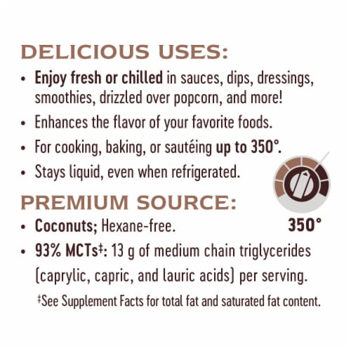 Nature's Way Liquid Coconut Premium Oil Perspective: top