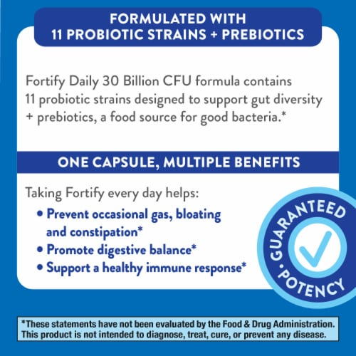 Nature's Way Fortify Daily Probiotic Capsules Perspective: top