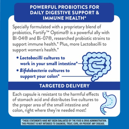 Nature's Way Women's Fortify Optima Probiotic Supplement Vegetarian Capsules Perspective: top