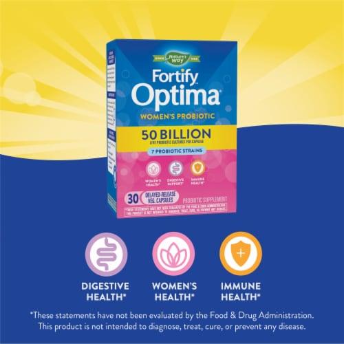 Nature's Way Women's Fortify Optima Probiotic Supplement Vegetarian Capsules Perspective: top