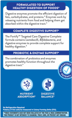 Nature's Way Fortify Dual Action Digestive Complete Capsules Perspective: top