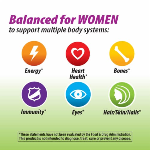 Nature's Way Alive! Garden Goodness Women's Multivitamin Tablets Perspective: top