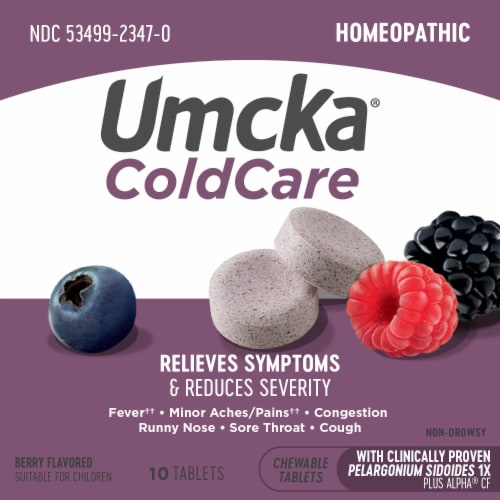 Nature's Way Umcka Berry Flavored Cold & Flu Chews Perspective: top