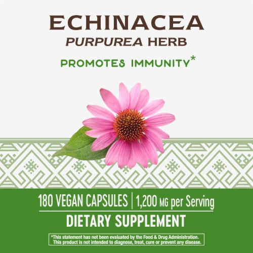 Nature's Way Organic Echinacea Purpurea Capsules Perspective: top