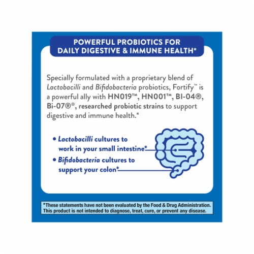 Nature's Way Fortify Daily Probiotic +Prebiotics Capsules Perspective: top