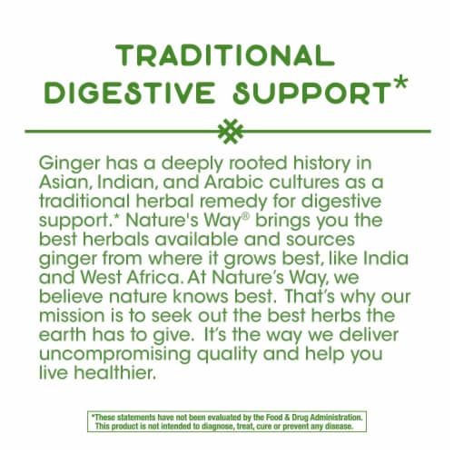 Nature's Way Ginger Root Capsules Perspective: top