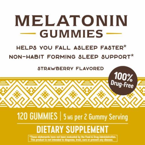 Nature's Way Strawberry Melatonin Gummies Perspective: top