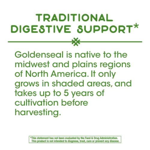 Nature's Way Goldenseal Root Capsules 570 mg Perspective: top