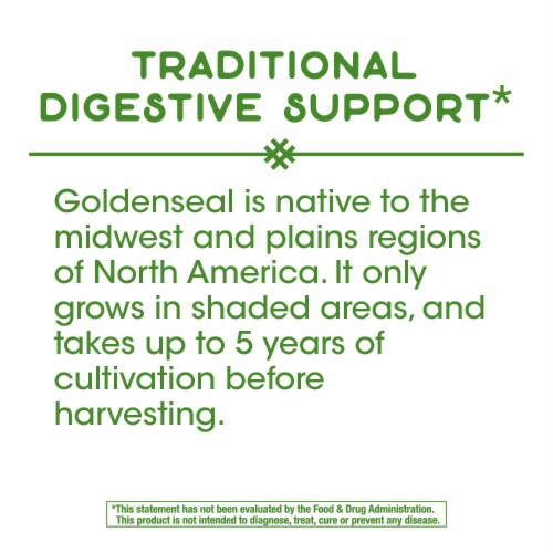 Nature's Way Goldenseal Root Capsules Perspective: top