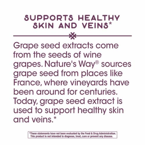 Nature's Way Grape Seed Standardized Capsules Perspective: top