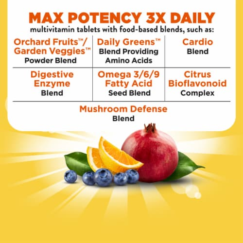 Nature's Way Alive! Whole Food Energizer Multi-Vitamin Tablets Perspective: top