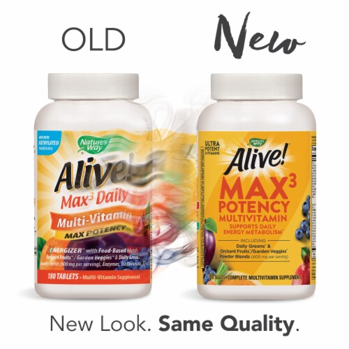 Nature's Way Alive! Multivitamin Max Potency Tablets Perspective: top
