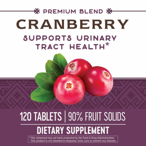Nature's Way Cranberry Standardized Tablets Perspective: top