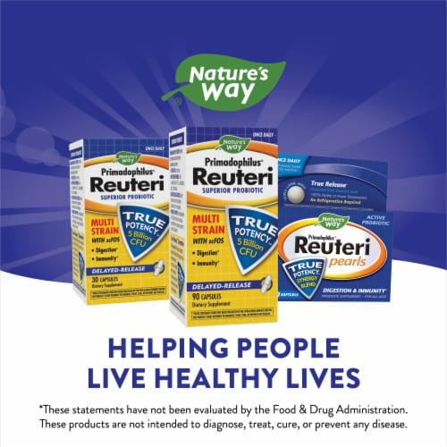 Nature's Way Primadophilus Reuteri Superior Probiotic Delyaed Release Capsules Perspective: top