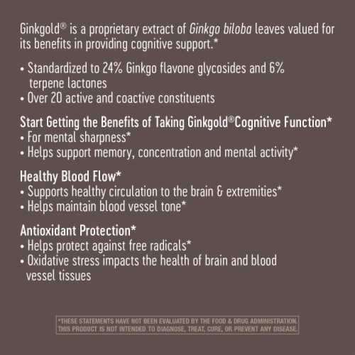 Nature's Way Ginkgold Mental Sharpness Tablets 60 mg Perspective: top