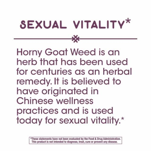 Nature's Way Horny Goat Weed Capsules 500mg Perspective: top