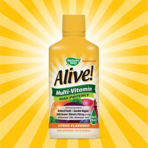 Nature's Way Alive! Whole Food Energizer Liquid Multi-Vitamin Perspective: top