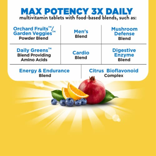 Nature's Way Alive! Men's Multi Max Potency Tablets Perspective: top