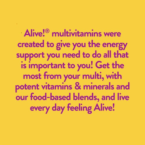 Nature's Way Alive! Women's Max 3 Daily Energizer Muli-Vitamin Supplement Tablets Perspective: top