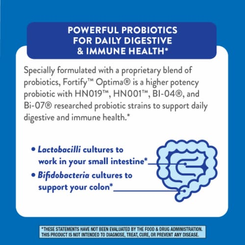 Nature's Way Fortify Optima Max Potency Probiotic Capsules Perspective: top