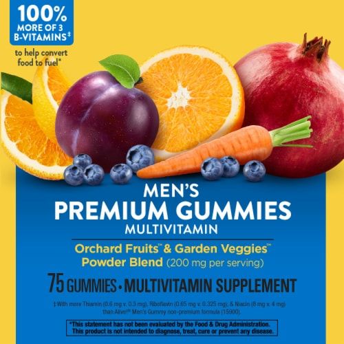 Nature's Way Alive! Men's Vitamin Gummies Perspective: top