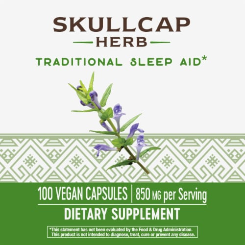 Nature's Way Scullcap Herb Capsules Perspective: top