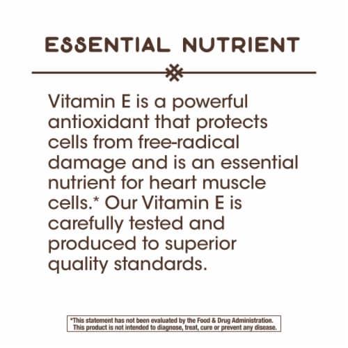 Nature's Way Vitamin E D-Alpha Tocopherol Softgels 268mg Perspective: top