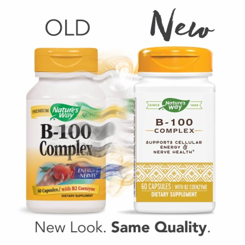 Nature's Way B-100 Complex Capsules Perspective: top