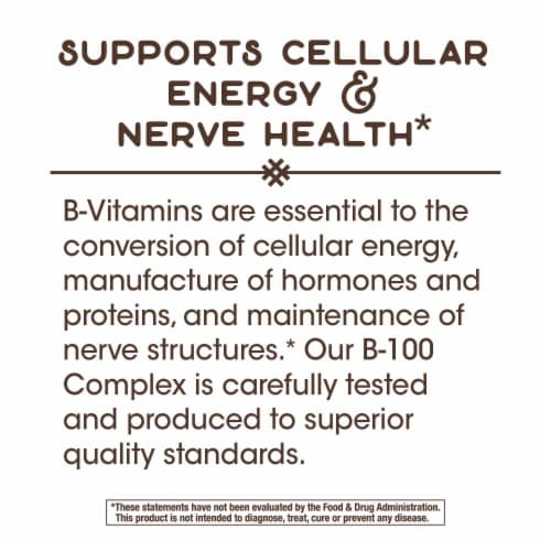 Nature's Way B-100 Complex Dietary Supplement Capsules Perspective: top