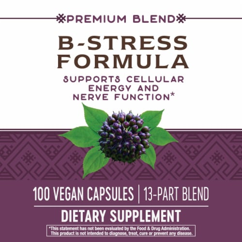 Nature's Way B-Stress Formula Capsules Perspective: top