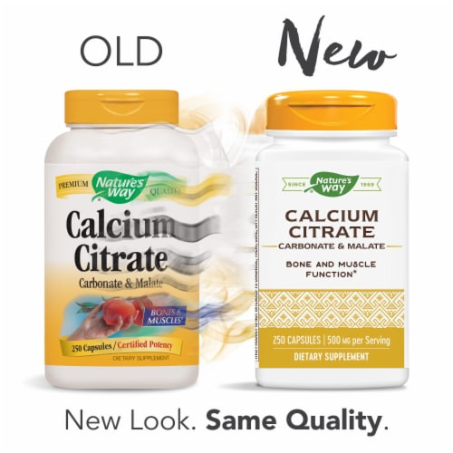 Nature's Way Calcium Citrate Vitamins Capsules Perspective: top