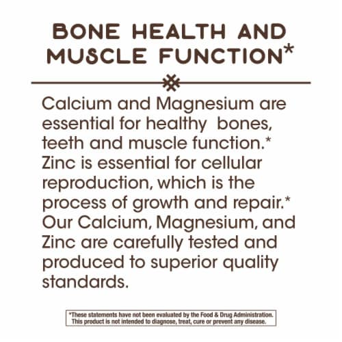 Nature's Way Calcium Mag & Zinc Mineral Complex Bones & Muscles Capsules Perspective: top