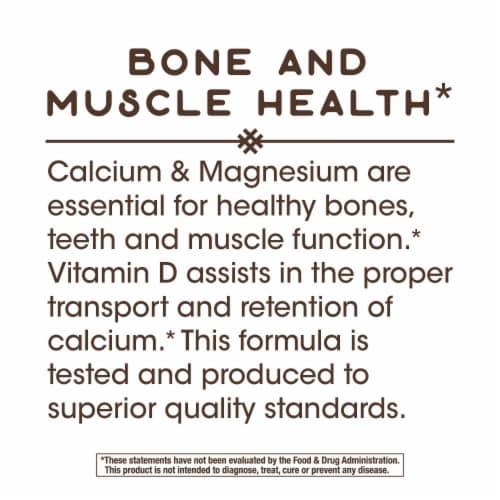 Nature's Way Calcium Magnesium & D Complex Capsules Perspective: top