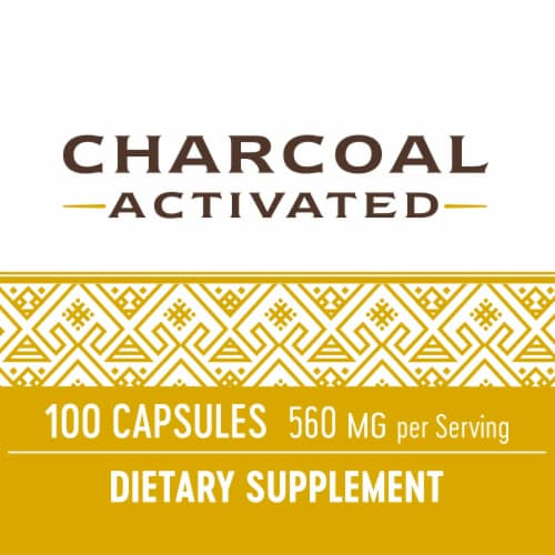 Nature's Way Activated Charcoal Capsules 560mg Perspective: top