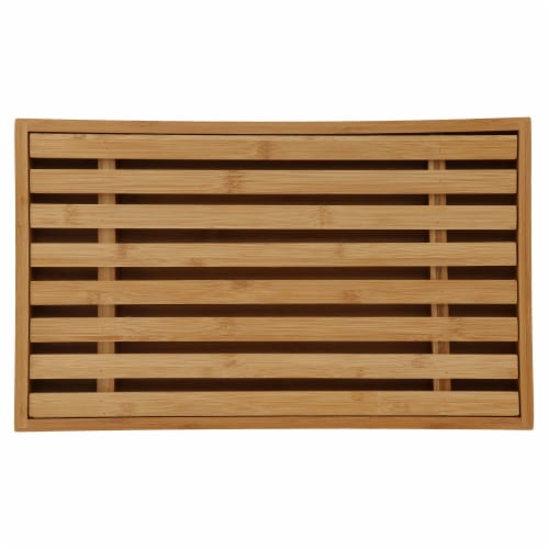 Danesco Bamboo Bread Cutting Board with Crumb Catcher Perspective: top