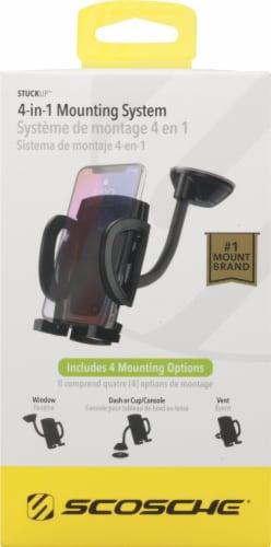 Scosche® stuckUP 4-in-1 Black Universal Smartphone & GPS Mounting Kit Perspective: top