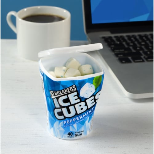 Ice Breakers Ice Cubes Peppermint Sugar Free Gum Perspective: top