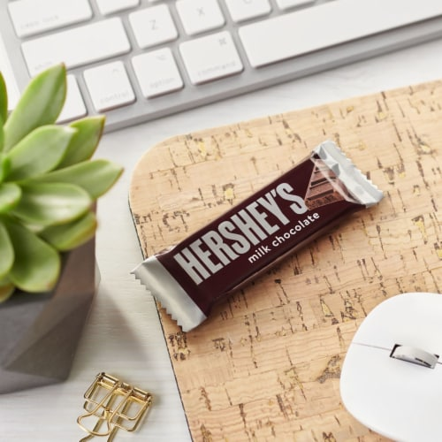 Hershey's Milk Chocolate Snack Size Candy Bars Perspective: top