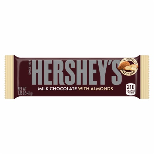 Hershey's Milk Chocolate with Almonds Bar Perspective: top
