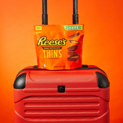 Reese's THiNS Peanut Butter Cups Milk Chocolate Candy Share Pack Perspective: top
