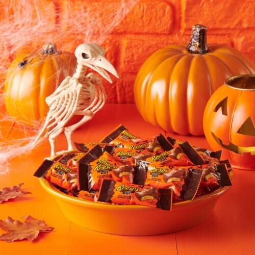 Reese's Halloween Snack Size Milk Chocolate Peanut Butter Bats Perspective: top
