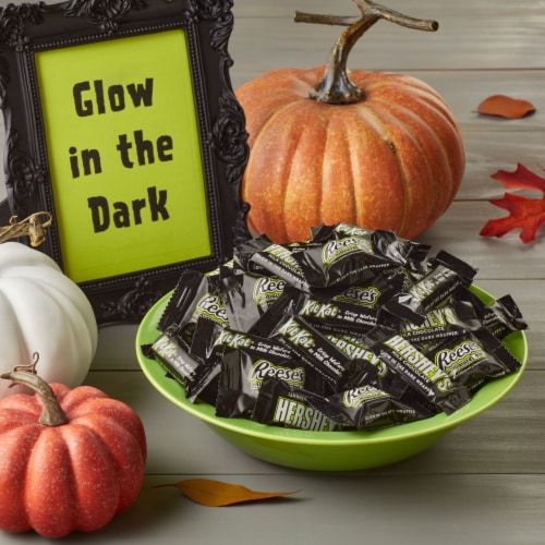 Hershey Halloween Candy Assortment with Glow in the Dark Wrappers Perspective: top