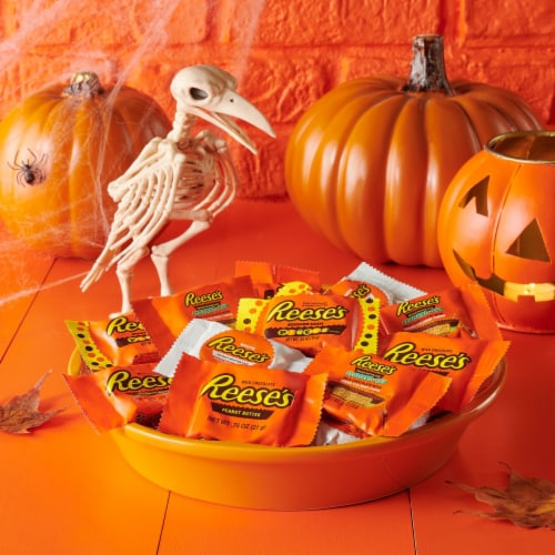 Reese's Halloween Lovers Snack Size Peanut Butter Cups Assortment Perspective: top