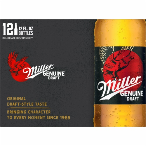 Miller Genuine Draft American Lager Beer Perspective: top