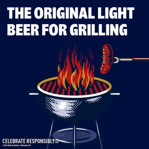 Miller Lite American Light Lager Beer Perspective: top
