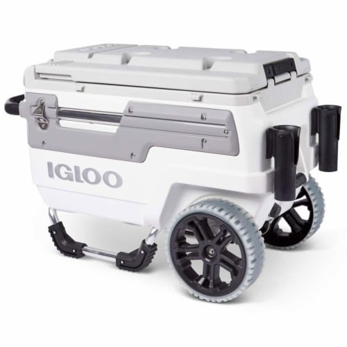 Igloo 00034492 Trailmate Marine Grade 70 Quart Insulated Ice Chest Cooler, White Perspective: top
